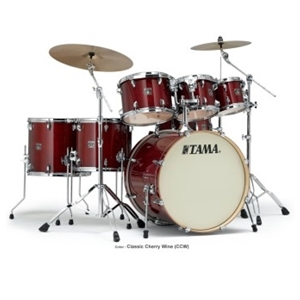 Tama Superstar Classic 5 Piece Shell Kit in Cherry Wine Finish