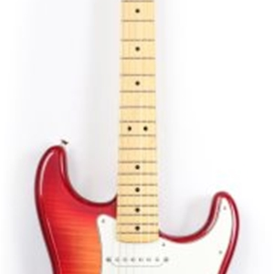 Fender® Standard Stratocaster® Plus Top with Maple Fingerboard in Aged Cherry Burst Finish