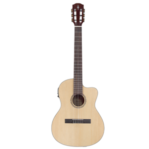 Alvarez  Recent Series Classical Hybrid Acoustic Electric Guitar in Natural Finish