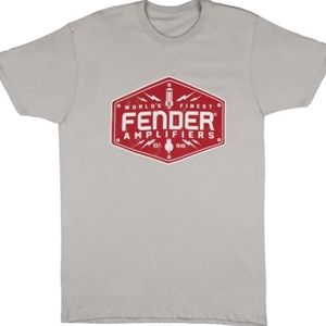 Fender® Bolt Down Men's Shirt, Silver- Medium