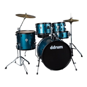 DDrum D2 Player Series 5 Piece Drumset with Cymbals  in Blue Pinstripe